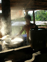 Photo: A local making rice noodles in the Mekong Delta,South Vietnam for #travelthursday curated by +Laura Mitchum