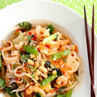 Drunken Noodles With Shrimp.