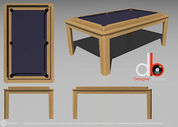 Pool Table Design Drawing