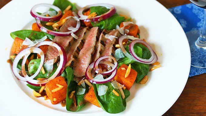 Flank Steak Spinach Salad Recipe