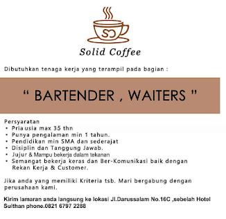 Lowongan Kerja di Solid Coffee Medan, Lowongan kerja Medan