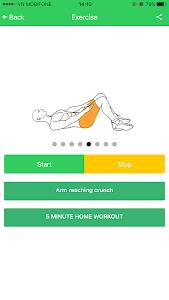 Abs 5 minutes workout screenshot 5
