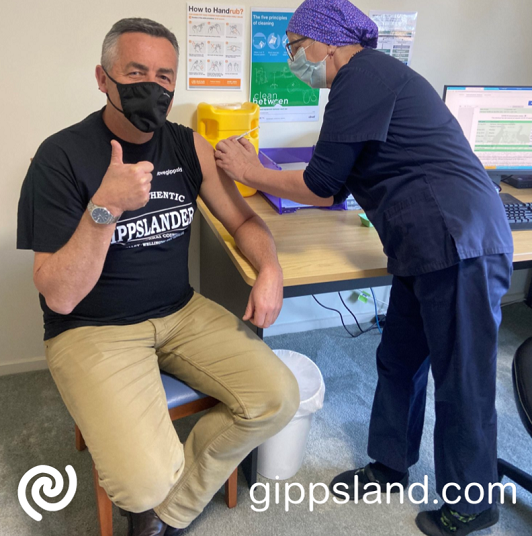 Federal Member for Gippsland Darren Chester encouraged eligible Gippslanders to get vaccinated after receiving his second dose of the AstraZeneca vaccine