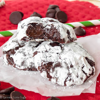 Gooey Dark Chocolate Truffle Cookies.