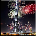 Fireworks in Dubai Video LWP Icon