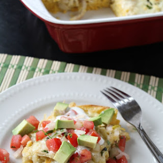 Chicken Suizas Enchilada Casserole
