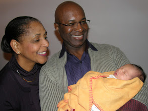 Photo: With the paternal grandparents. They seem pleased.