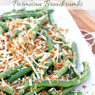 Lemon Green Beans with Parmesan Bread Crumbs