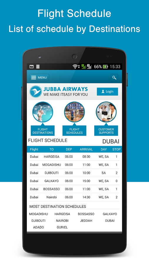 Jubba Airways- screenshot