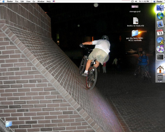 Photo: Back when I used to ride, at Government Center in Boston. That's Keith and Thad with reflective eyes in the background.