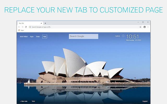 Sydney Wallpaper City New Tab - freeaddon.com