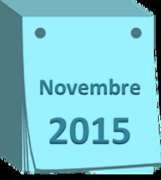 agenda novembre 2015
