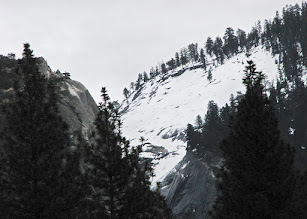 Photo: Snowy section of Half Dome at left middle section. #2342