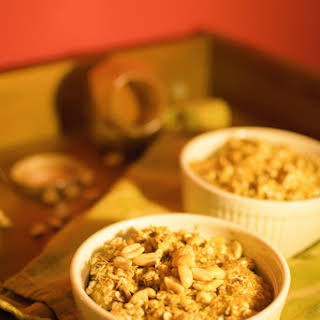 Oat Peanut-apple Crumble.