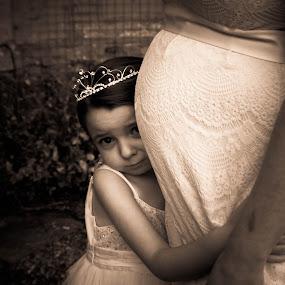 Flower girl and Bump by Morag Soszka - Wedding Other ( scotland, mothers, wedding, highland wedding )