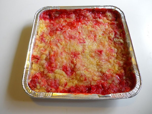 Bake 40 minutes at 350 degrees.  Serve with ice cream or whipped topping.