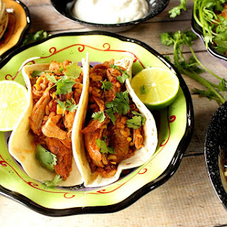 Mexican Slow Cooker Pork Tacos with Rice.