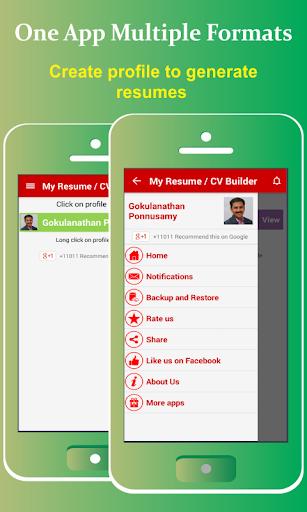 My Resume Builder,CV Free Jobs Screenshot