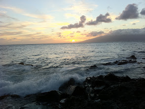 Photo: Watching the sunset on my last night in Maui