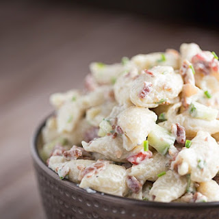Creamy Bacon Ranch Pasta Salad.