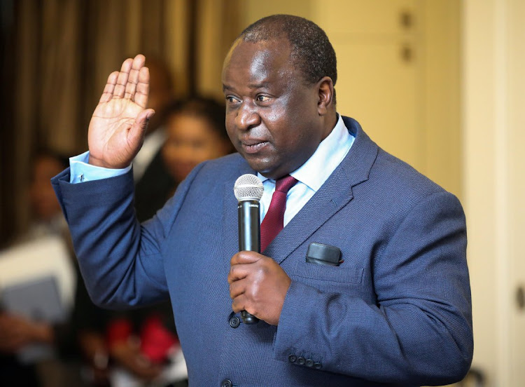 Finance minister Tito Mboweni in Cape Town, South Africa, October 9 2018. REUTERS/SUMAYA HISHAM