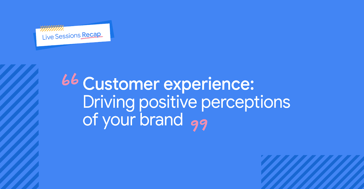 Título do texto em fundo azul: Customer Experience: Driving positive perceptions of your brand