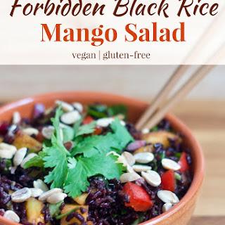 Forbidden Black Rice Mango Salad.