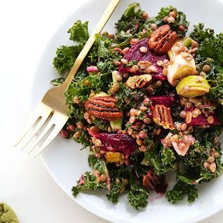 Kale, Lentil & Roasted Beet Salad
