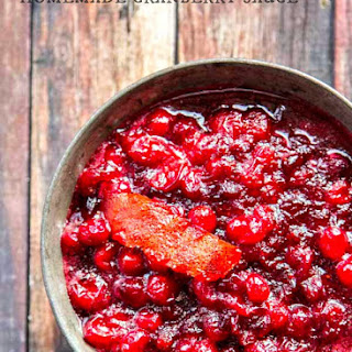 Homemade Cranberry Sauce with Orange