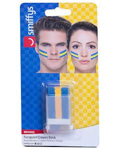 Sminkstift, blå/gul