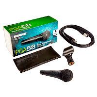 Shure PGA58-XLR Sångmikrofon, XLR-XLR kabel