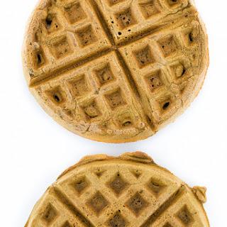 Vegan Coffee Cardamom Waffles.