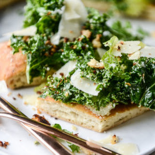 Kale Caesar Salad Pizza