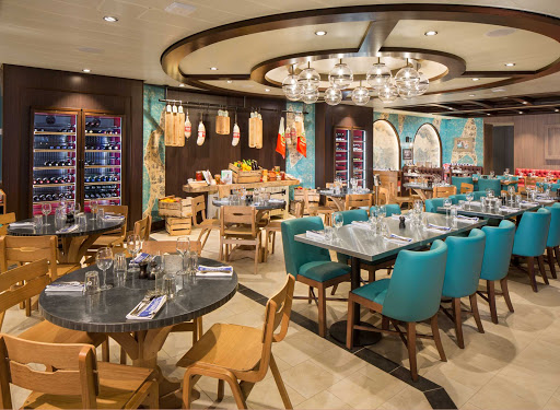 In the mood for upscale Italian? Check out the specialty restaurant Jamie's Italian Kitchen on Symphony of the Seas.