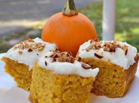Pumpkin Cake Bars Recipe