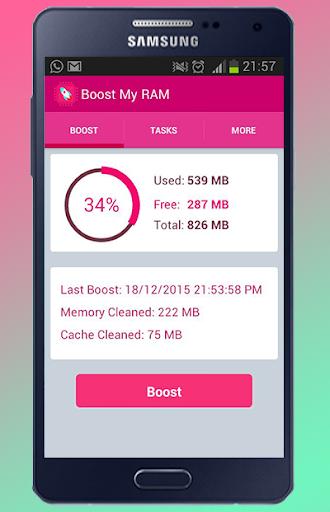 RAM Booster accelerate