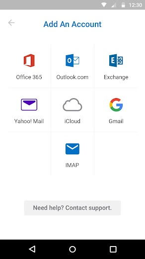 Screenshot 5 for Outlook Mail's Android app'