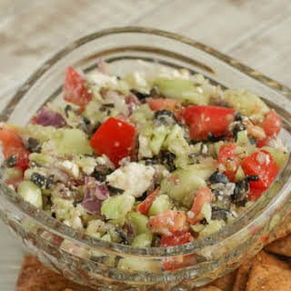 Easy Fresh Mediterranean Salsa Dip.