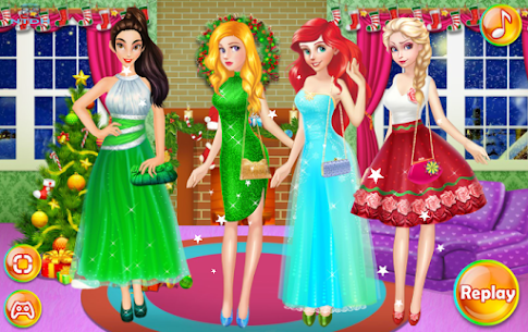 Dress up games for girl – Princess Christmas Party 4
