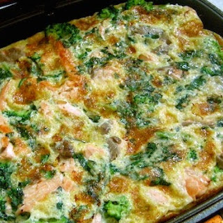 Minty Salmon & Broccoli Frittata