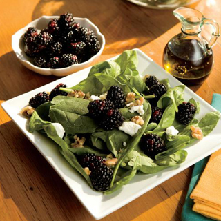 Wilted Spinach, Blackberry and Goat Cheese Salad By Mary Carter - April 13, 2012