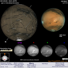 Photo: A belated April Fools Mars!  I had an overall bad experience this night, but 2 good IR-RGB runs made this!