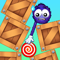 Catch the Candy: Remastered! Red Lollipop Puzzle icon