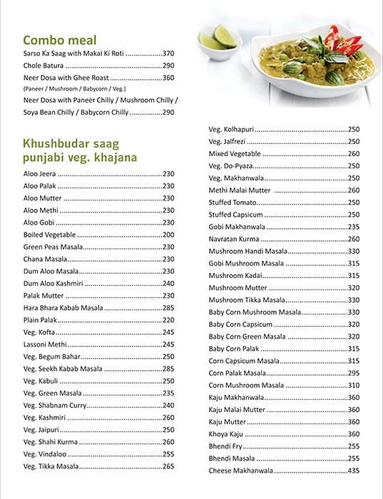 Shiv Sagar menu 9