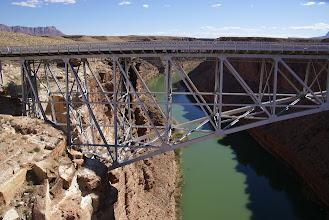 Photo: Navajo Bridge at Colorado River below Lees Ferry.