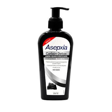 Jabón Liquido Asepxia Facial Antiacné Carbón 200 ML