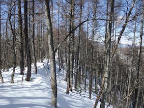雪の稜線歩きに