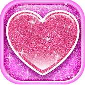 Glitter Hearts Live Wallpaper