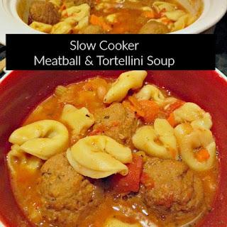 Slow Cooker Tortellini & Meatball Soup