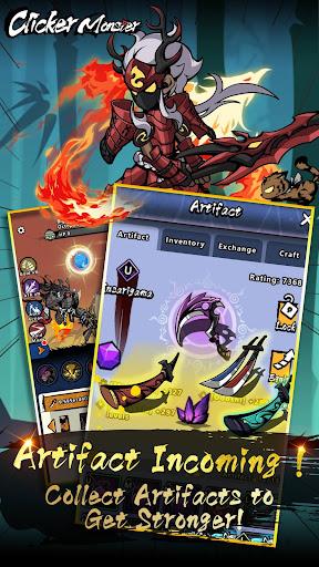 Télécharger Gratuit Clicker Monster: RPG Idle Game APK MOD (Astuce) screenshots 2
